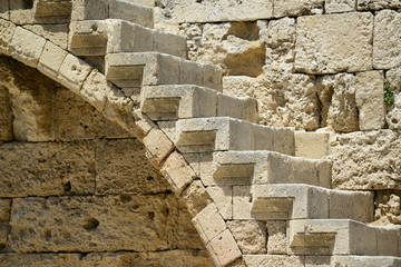 Detail of Castle in Rhodes Greece - The Palace of the Grand Mast