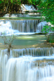Waterfall in tropical deep forest at Hua Maekhamin - 69146955