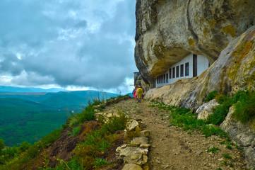 Blanoveshchensky monastery on the mountain Mangup in the Crimea