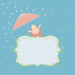 cute cartoon greeting card