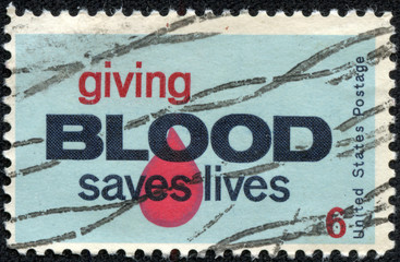 United States Postage Stamp promoting Blood Donation