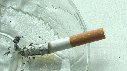 cigarette in the ashtray