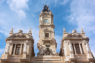 Architecture - Valencia Town Hall building, Spain.