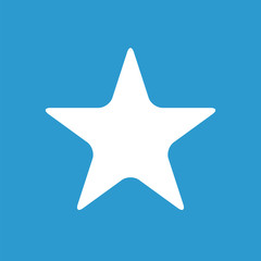 star icon, white on the blue background .