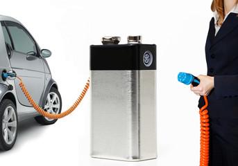 Batterie Tankstelle