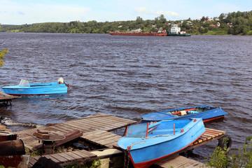 Река Волга у Плеса.