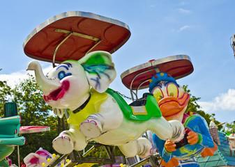 Volksfest Fahrgeschäft Kinder Karussell