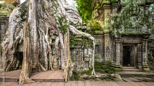 Foto op Aluminium Rudnes ancient ruins of Ta Prohm