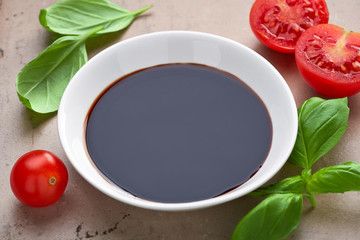 bowl of balsamic vinegar