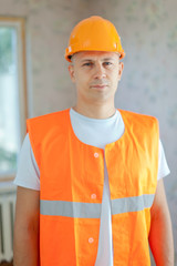 Portrait of builder
