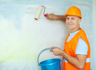 house painters with paint roller