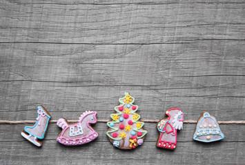 Holz Hintergrund weihnachtlich in Shabby Chic Style