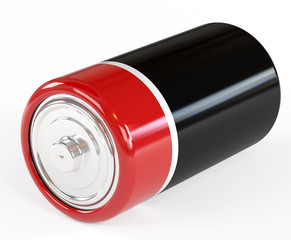 Battery on a white background it is isolated, clouse-up