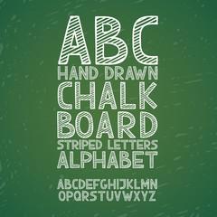 Blackboard chalkboard Chalk hand draw doodle abc, alphabet
