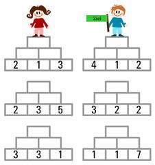 Arbeitsblatt: Zahlenpyramide