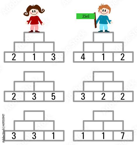 Pyramidenrechnen 1 Klasse - rechenpyramiden a1 lernheftzahlenmauern ...