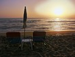 canvas print picture - Tramonto sulla spiaggia