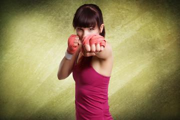 Boxen, Kampf - Sportliche Frau