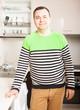 man at domestic kitchen