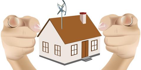 mini pala eolica per abitazione