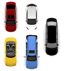 Collection of colorful cars