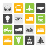 Silhouette Transportation and travel icons
