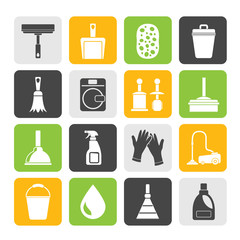 Silhouette Cleaning and hygiene icons
