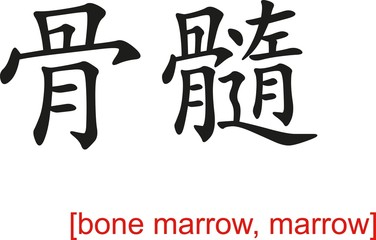 Chinese Sign for bone marrow, marrow
