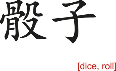Chinese Sign for dice, roll