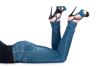 legs with jeans