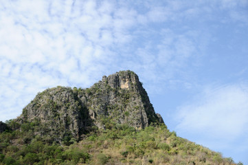 High mountain in country, Thailand.