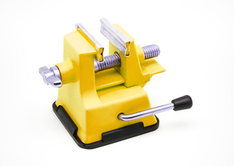Yellow Plastic Bench Vise with Suction Cup