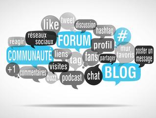nuage de mots : forum blog