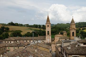Villaggio medievale di Caldarola nelle Marche