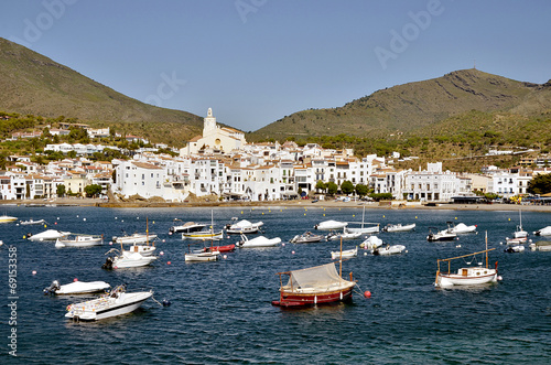 Port and town of Cadaqués in Spain