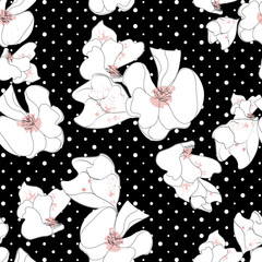 seamless flower pattern,vector eps 10