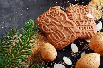 Spicy crunchy speculoos Christmas biscuits