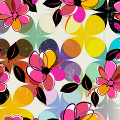 abstract floral pattern, vector format