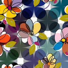 abstract floral pattern illustration,vector