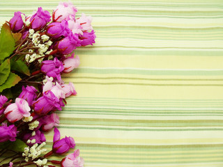 Bouquet Flowers with green stripes Background