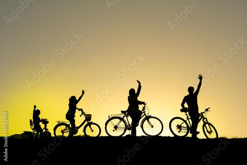 Fototapeta bisiklet gezisi & bisiklet kültürü