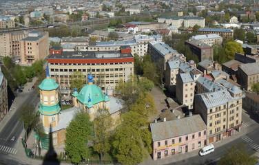 Bird's eye view cityscape (Riga, Latvia)