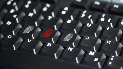 computer keyboard with fingerprinting - 16 to 9 - g1327