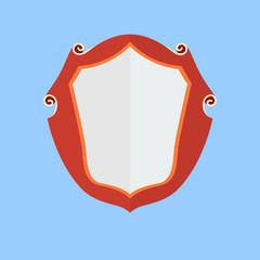 Vintage shield, vector icon