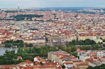 Prag, Blick vom Laurenziberg auf Stadt und Fluss