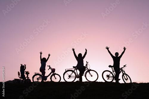 Fotobehang Wielersport ailede bisiklet kültürü