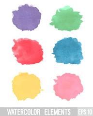 Watercolor design element.