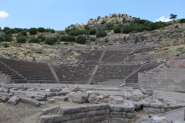 The Ancient Theatre of Assos in Canakkale, Turkey.