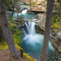 waterfalls at the Johnston Canyon in banff