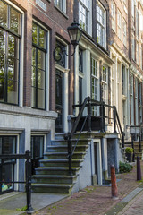 Amsterdam, Netherlands. Typical urban architecture
